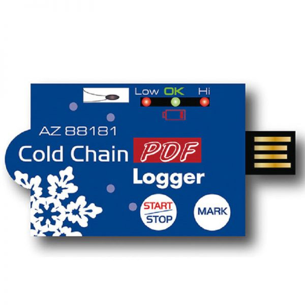 Inregistrator de temperatura PDF de unica folosinta, cu interfata USB 88181 88182