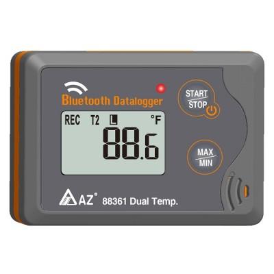 Inregistrator de temperatura Bluetooth cu doua temperaturi 88361 panou frontal