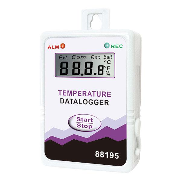 Inregistrator de temperatura cu LCD si cablu serial-USB [88195]