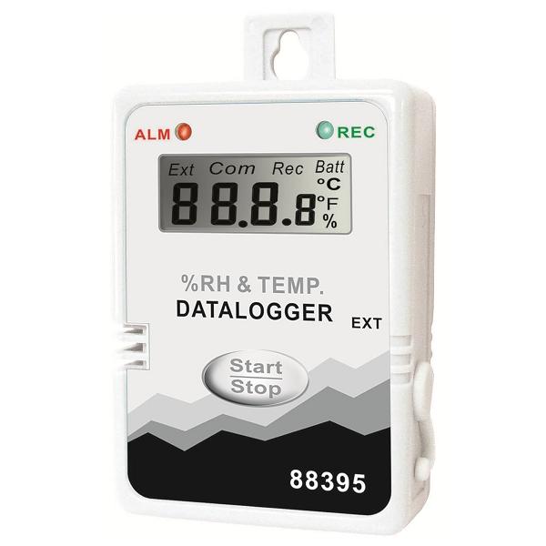 Inregistrator de temperatura si umiditate, cu doua temperaturi, cu LCD si cablu serial-USB [88395]