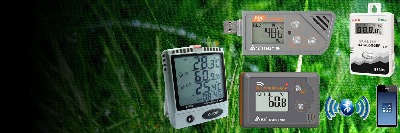 Inregistratoare de temperatura si umiditate Bluetooth Serial USB PDF birouri muzeu HVAC transport produse medicale
