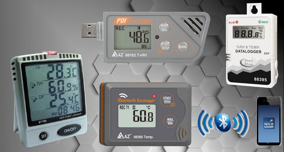 Inregistratoare de temperatura si umiditate Bluetooth Serial USB PDF