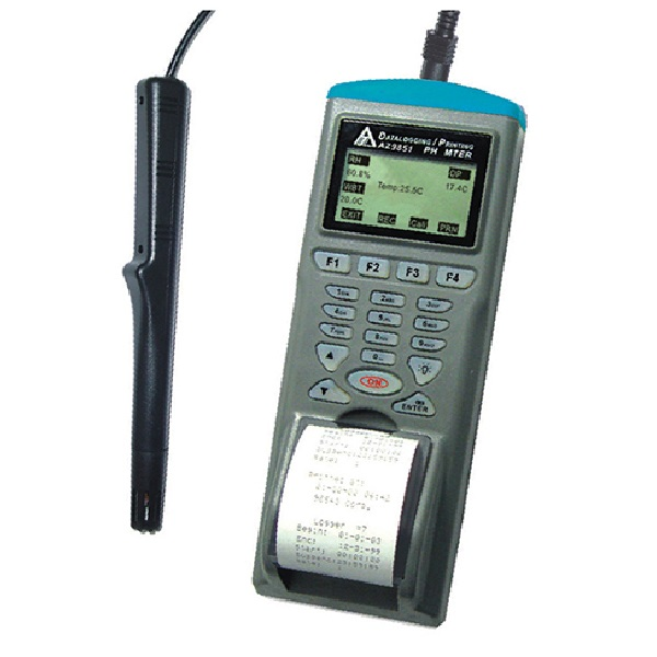 Inregistrator de temperatura si umiditate cu imprimanta termica / Termohigrometru cu imprimanta termica [9851]