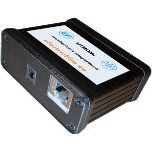 Sistem de monitorizare temperatura 8 senzori serial I2C UTMON8 conector Ethernet