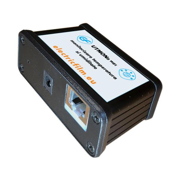 Sistem de monitorizare temperatura si umiditate 8 senzori WIFI UTMON8 WIFI conectori